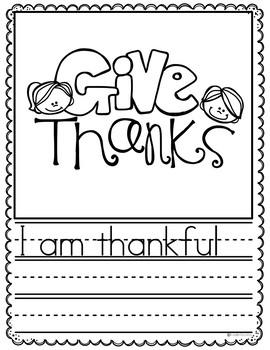 November Writing Prompts Preschool