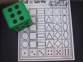 Preschool Christmas Math and Literacy Packet