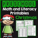 Preschool Christmas Math and Literacy Packet