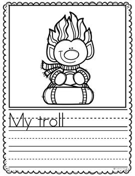 January Writing Prompts Preschool - NO PREP