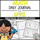 Preschool Math Journal  April