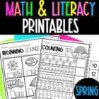 Preschool Spring Printables {NO PREP}