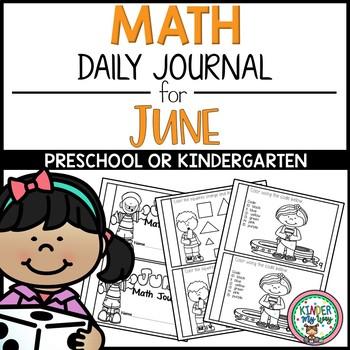 Daily Math Journal - June {PRESCHOOL}