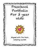 Preschool 3 Year Old Portfolio