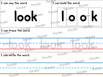 Preschool 40 Dolch Sight Words Pack