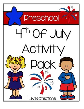 Preschool 4th Of July Activity Pack