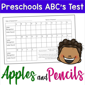 Preschool ABC's Test: Phonetics and Recognition
