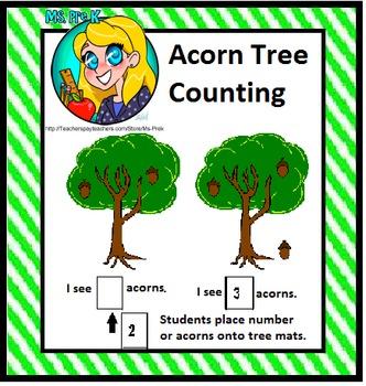 Preschool Acorn Counting