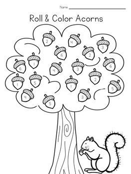 Preschool Acorn Math