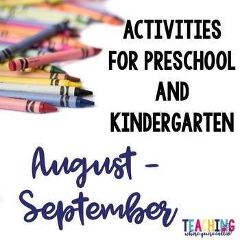 Preschool Activities August - September