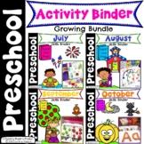 Preschool Activities Binder - Growing Bundle