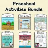 Preschool Activities Bundle Back to School
