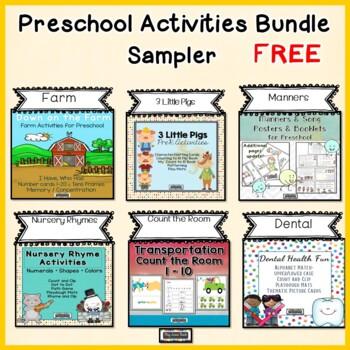 Preschool Activities Bundle - Free Sampler