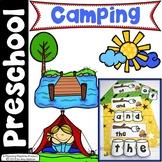 Preschool Activities - Camping Theme