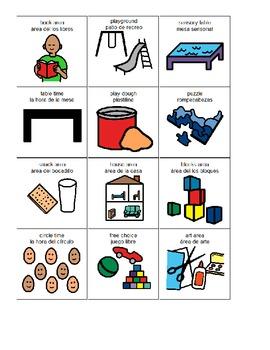 Preschool Activity Centers English and Spanish