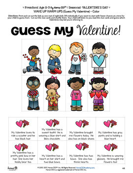 Preschool Valentines Unit by Home CEO Academy (Age 2-3 Version)