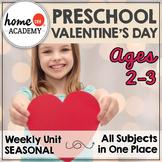 Preschool Valentines - Weekly Unit for Preschool, PreK, or Homeschool Preschool