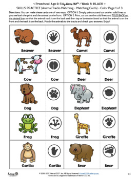 Preschool Black - Weekly Unit for Preschool, PreK or Homeschool