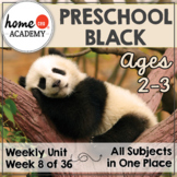 Preschool Black - Weekly Unit for Preschool, PreK or Homeschool