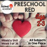 Preschool Red - Weekly Unit for Preschool, PreK or Homeschool