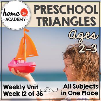 Preschool Age 2-3 - Week 12 Triangles