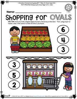 Preschool Age 2-3 - Week 13 Ovals
