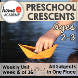 Preschool Crescents - Weekly Unit for Preschool, PreK or Homeschool