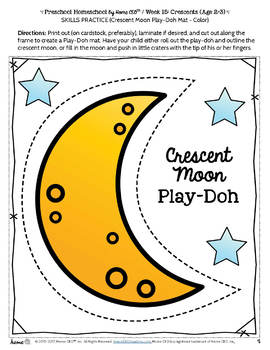 Preschool Crescents - Weekly Unit for Preschool, PreK or Homeschool