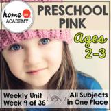Preschool Pink - Weekly Unit for Preschool, PreK or Homeschool