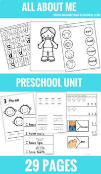 Preschool All About Me Mini-Unit Printables