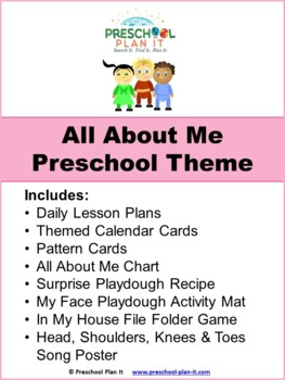 Preschool All About Me Theme Unit