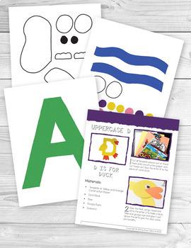 Preschool Alphabet Book - 52 Alphabet Letter Crafts for Kids