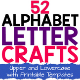 Preschool Alphabet Book - 52 Alphabet Letter Crafts for Kids