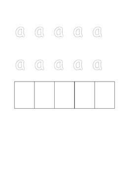 Preschool Alphabet Practice