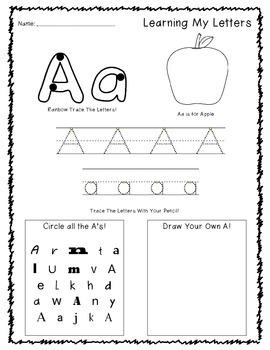 Preschool Alphabet Sheets