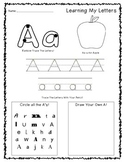 Preschool Alphabet Sheets