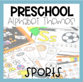 Preschool Alphabet Sports Theme: Hands On Puzzles and Printables