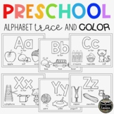 Preschool Alphabet Trace and Color Pages
