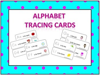 Preschool Alphabet Tracing Cards and full set of flash cards.