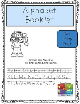 Preschool Alphabet & Writing Practice - NO PREP Worksheets