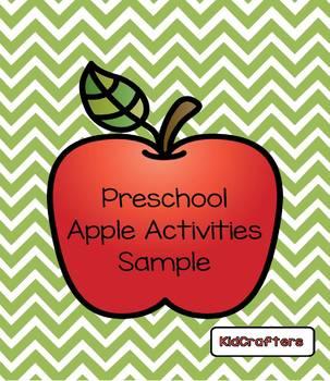 Preschool Apple Activities Sample
