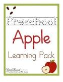 Preschool Apple Learning Pack