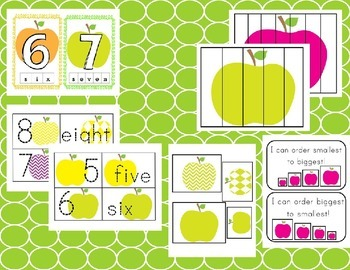 Preschool Apple Math Centers