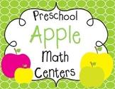 Preschool Apple Math Centers