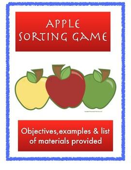 Preschool Apple Parts Activity