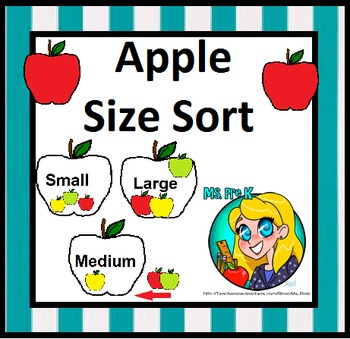 Preschool Apple Size Sorting