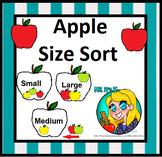 Preschool Apple Size Sorting
