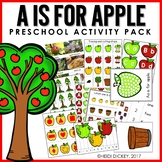Preschool: Apple Theme Learning Pack
