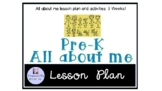 Preschool all about me Themed lesson plan