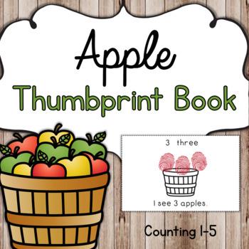 Preschool Apple Thumbprint Number Book